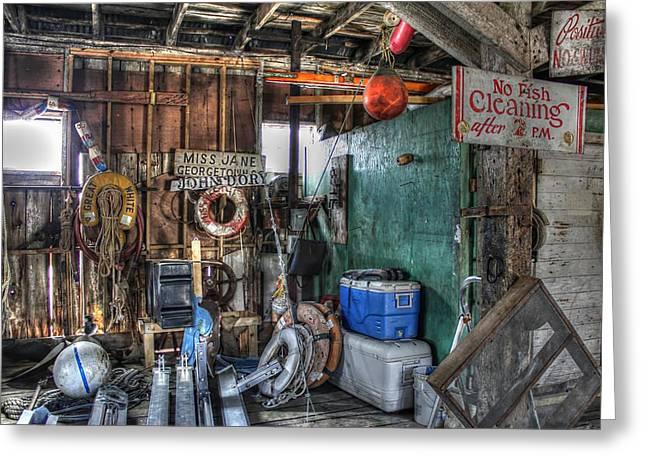 No Fish Cleaning Greeting Card by Lynn Jordan