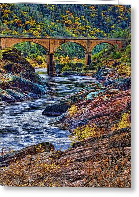 No Hands Bridge Auburn Ca Greeting Card by Mike Durant
