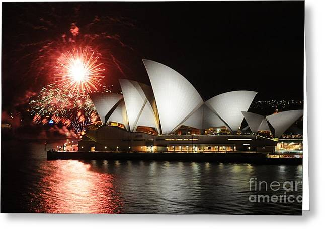 Pyrotechnics Greeting Cards - No Its Not New Years Eve Greeting Card by Vivian Christopher
