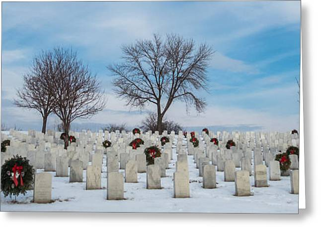 Snowy Day Greeting Cards - Fallen Heros Greeting Card by Patti Deters