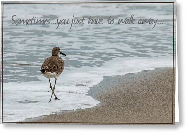 Beach Photography Greeting Cards - Sometimes You Just Have to Walk Away Greeting Card by Patti Deters