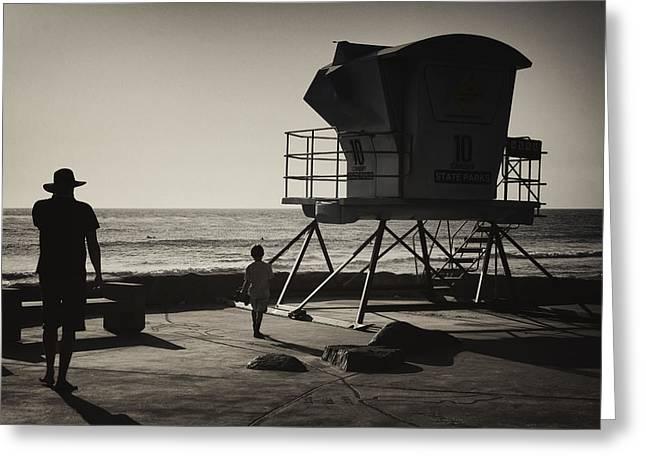 California Beach Greeting Cards - No Lifeguard on Duty Greeting Card by Joan Carroll