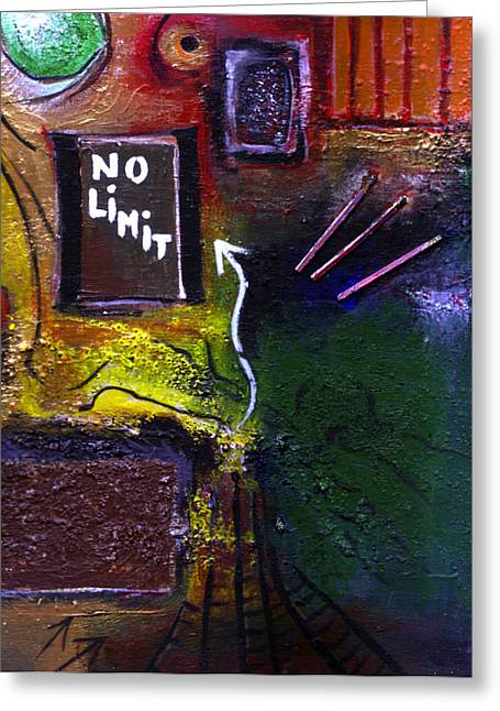 Swiss Mixed Media Greeting Cards - No Limits Greeting Card by Mirko Gallery