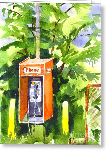 Out-dated Greeting Cards - No Longer in Service Watercolor  Greeting Card by Kip DeVore