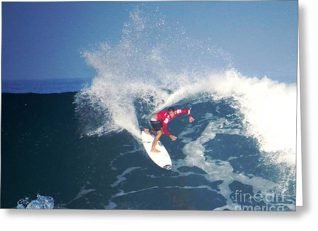 Surfing Photos Greeting Cards - No Looking Back Greeting Card by Scott Cameron