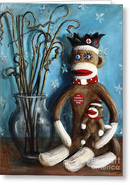 Randy Burns Greeting Cards - No Monkey Business Here 1 Greeting Card by Randy Burns