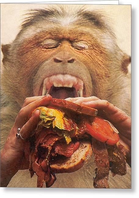 Anti Mixed Media Greeting Cards - No More Fast Food Greeting Card by Jonathon Prestidge