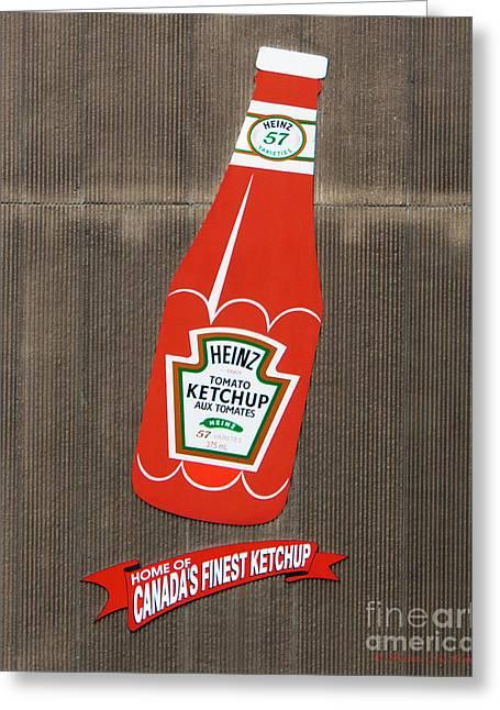 No More Ketchup Greeting Card by Barbara McMahon