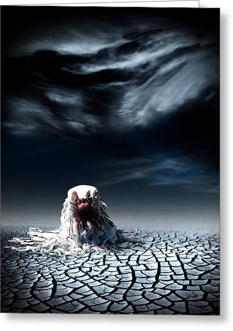 Despair Mixed Media Greeting Cards - No More Greeting Card by Photodream Art