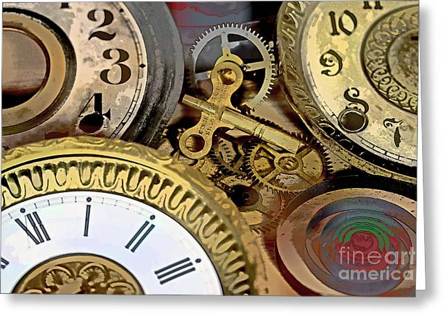 Component Greeting Cards - No More Time Greeting Card by Tom Gari Gallery-Three-Photography