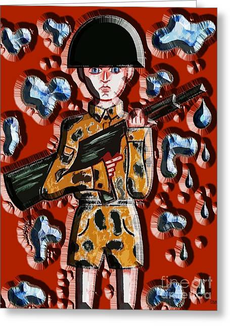 Artcards Greeting Cards - No More War Greeting Card by Patrick J Murphy