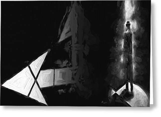 Monotone Paintings Greeting Cards - No One There Greeting Card by Bob Orsillo