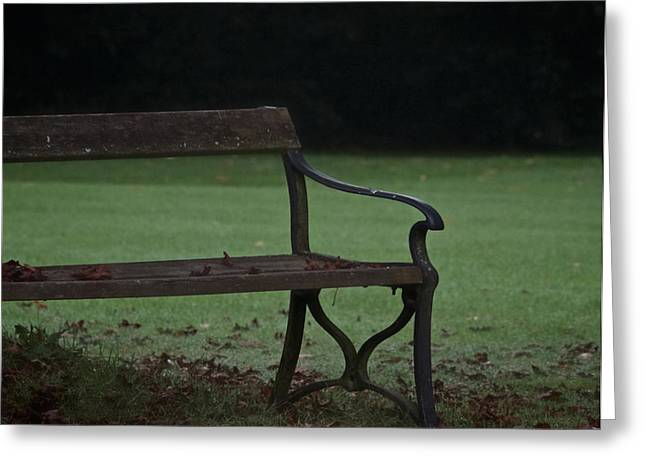 Empty Park Bench Greeting Cards - No One To Hear Greeting Card by Odd Jeppesen