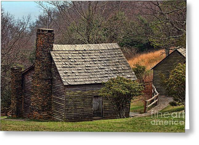Pioneer Homes Digital Greeting Cards - No Place Like Home Greeting Card by Sandra Clark