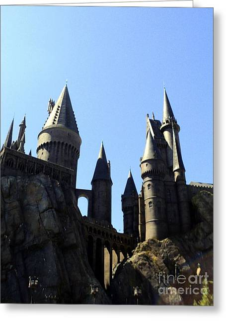 No Place Safer Than Hogwarts Greeting Card by Elizabeth Dow