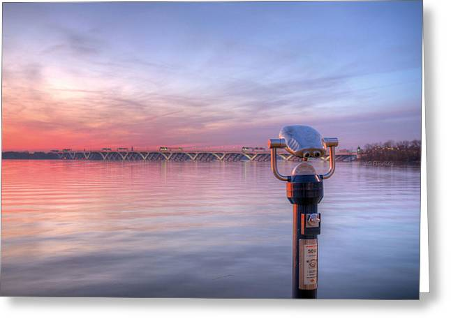 Chesapeake Bay Bridge Greeting Cards - No Quarters Greeting Card by JC Findley