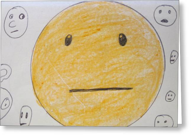 Apathy Greeting Cards - No Reaction Face - A Face of Apathy Greeting Card by David Lovins
