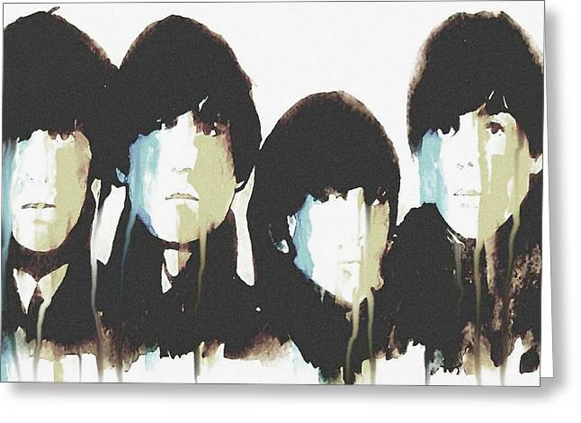 The Beatles Images Greeting Cards - No Reply Greeting Card by Paul Lovering