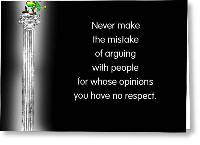 No Respect Greeting Card by Mike Flynn