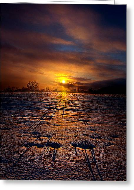 Geographic Greeting Cards - No Rush Greeting Card by Phil Koch