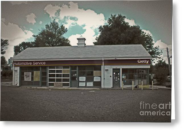 No Service #2 Greeting Card by Tom Gari Gallery-Three-Photography
