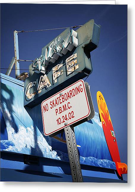 Skateboarding Greeting Cards - No Skateboarding Greeting Card by Jeff Klingler