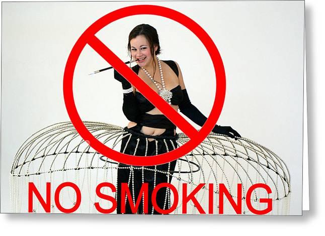 Erte Greeting Cards - No Smoking Greeting Card by Don McCunn
