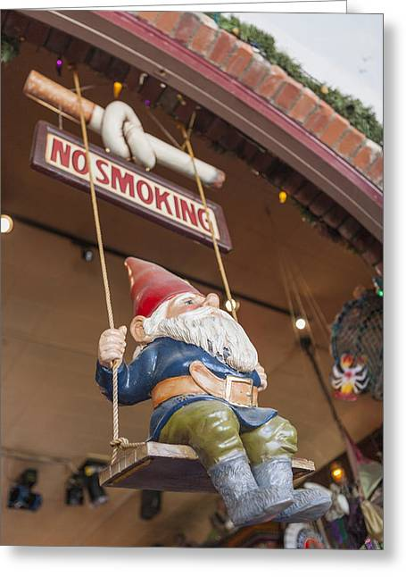 No Smoking Gnome Greeting Card by Scott Campbell