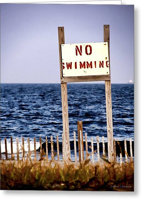 Original Photographs Greeting Cards - No Swimming Greeting Card by Colleen Kammerer