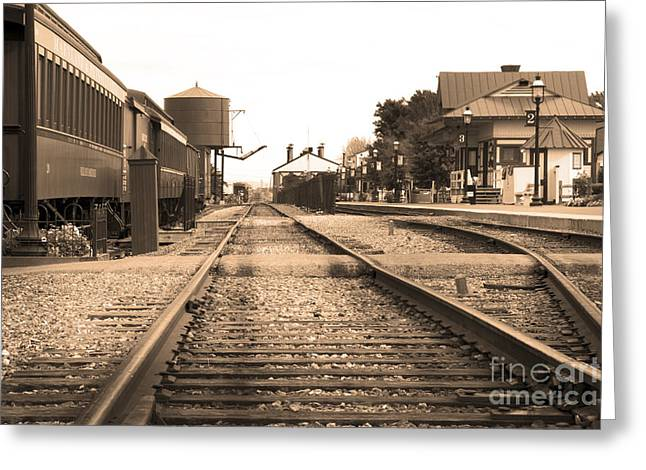 Railroad Railroad Tracks Greeting Cards - No train today Greeting Card by Paul W Faust -  Impressions of Light