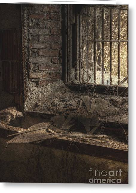 Basement Greeting Cards - No Way Out Greeting Card by Margie Hurwich