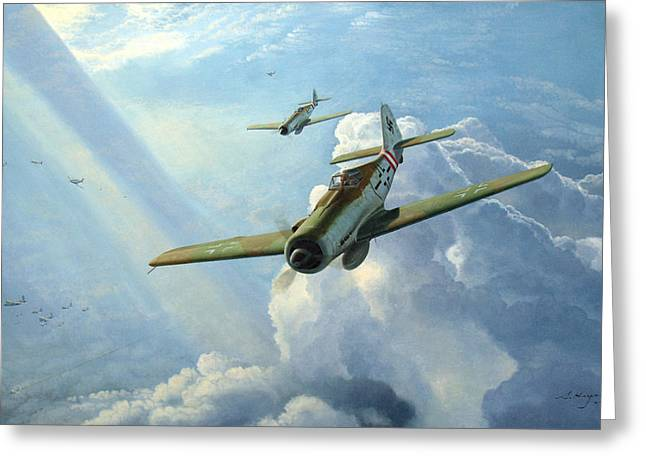Me-109 Greeting Cards - No Way Through Greeting Card by Steven Heyen