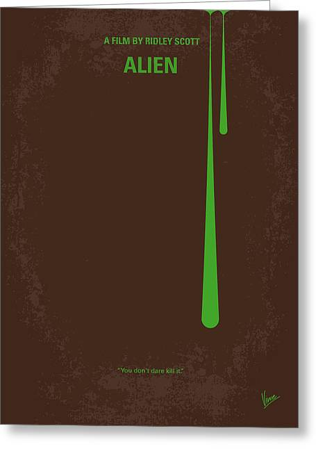 Creature Greeting Cards - No004 My Alien minimal movie poster Greeting Card by Chungkong Art