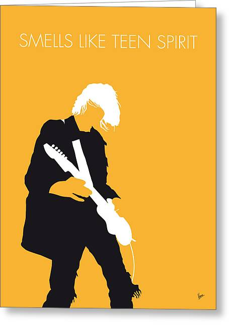 Teen Greeting Cards - No004 MY Nirvana Minimal Music poster Greeting Card by Chungkong Art