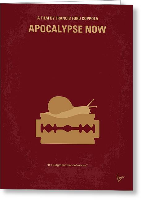 Horror Film Greeting Cards - No006 My Apocalypse Now minimal movie poster Greeting Card by Chungkong Art
