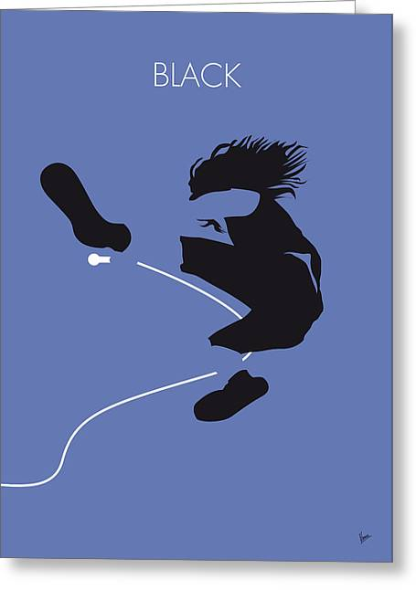 No008 My Pearl Jam Minimal Music Poster Greeting Card by Chungkong Art