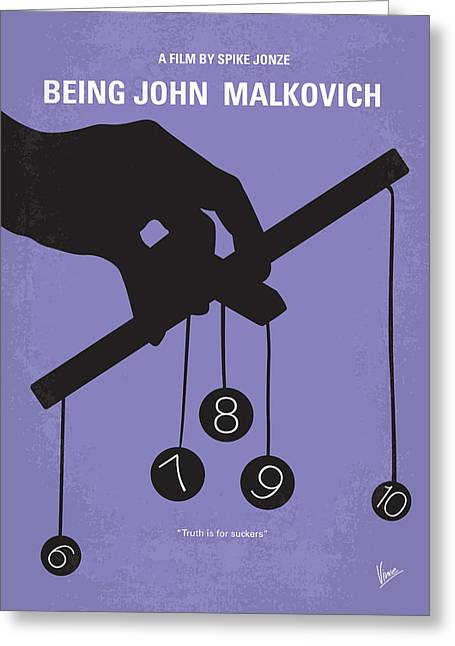 Puppet Greeting Cards - No009 My Being John Malkovich minimal movie poster Greeting Card by Chungkong Art