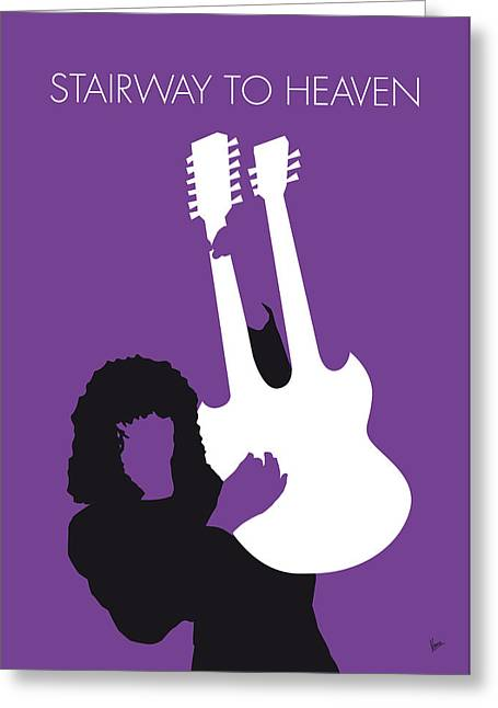 No011 My Led Zeppelin Minimal Music Poster Greeting Card by Chungkong Art