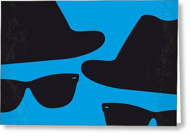 No012 My blues brother minimal movie poster Greeting Card by Chungkong Art