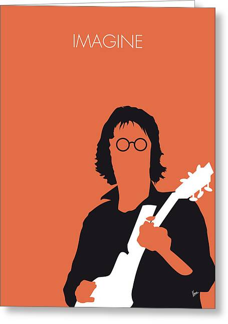Imagine Greeting Cards - No013 MY John lennon Minimal Music poster Greeting Card by Chungkong Art