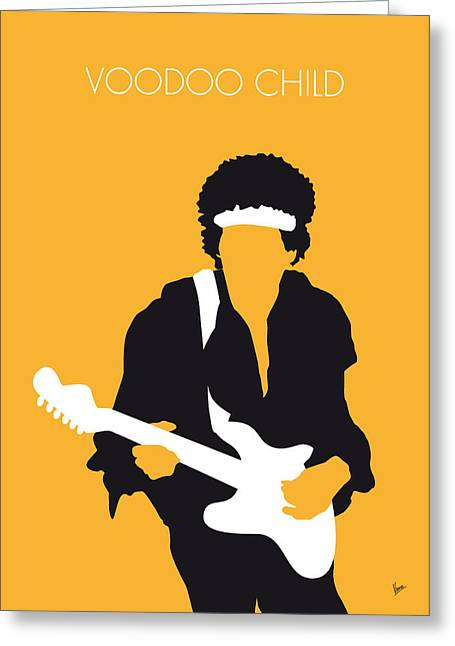 Voodoo Greeting Cards - No014 MY Jimi Hendrix Minimal Music poster Greeting Card by Chungkong Art