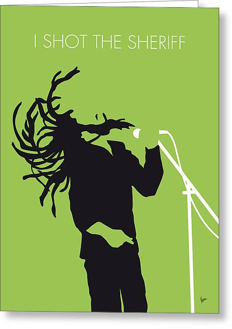 Shot Greeting Cards - No016 MY Bob Marley Minimal Music poster Greeting Card by Chungkong Art