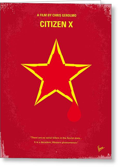 Detective Greeting Cards - No017 My CITIZEN X minimal movie poster Greeting Card by Chungkong Art