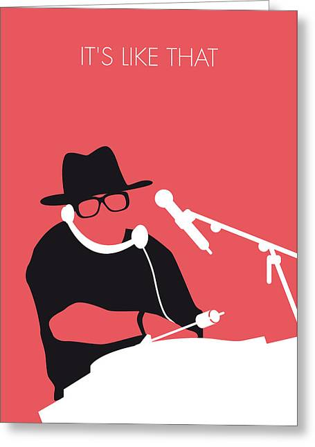 Hip-hop Greeting Cards - No022 MY RUN DMC Minimal Music poster Greeting Card by Chungkong Art