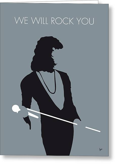70s Greeting Cards - No027 MY QUEEN Minimal Music poster Greeting Card by Chungkong Art