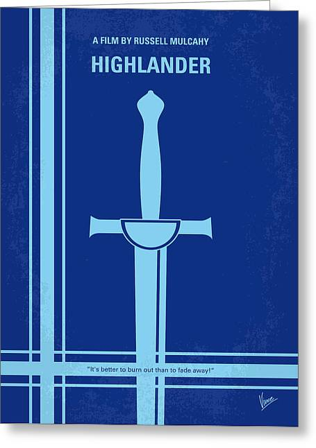 Highlander Greeting Cards - No034 My Highlander minimal movie poster.jpg Greeting Card by Chungkong Art