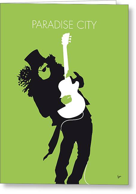 Destruction Greeting Cards - No036 MY GUNS AND ROSES Minimal Music poster Greeting Card by Chungkong Art