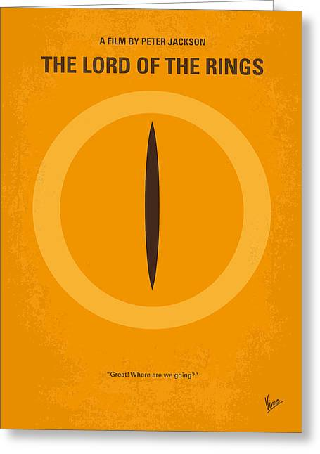 Graphic Design Greeting Cards - No039 My Lord of the Rings minimal movie poster Greeting Card by Chungkong Art
