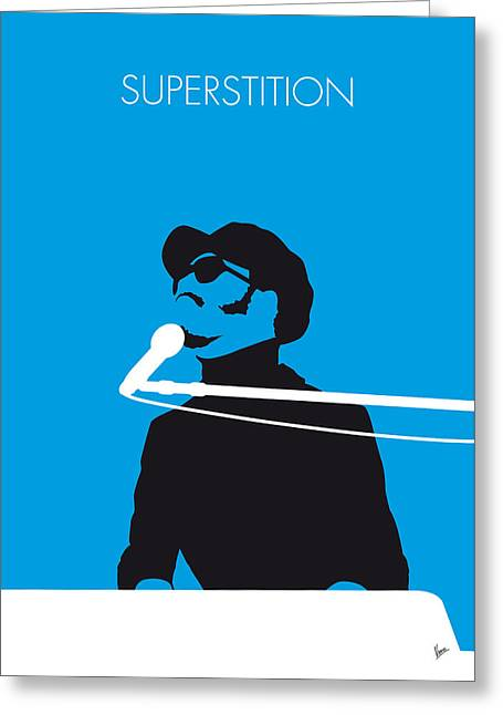 No039 My Stevie Wonder Minimal Music Poster Greeting Card by Chungkong Art