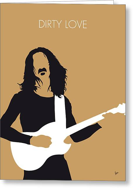 Dirty Digital Art Greeting Cards - No040 MY FRANK ZAPPA Minimal Music poster Greeting Card by Chungkong Art